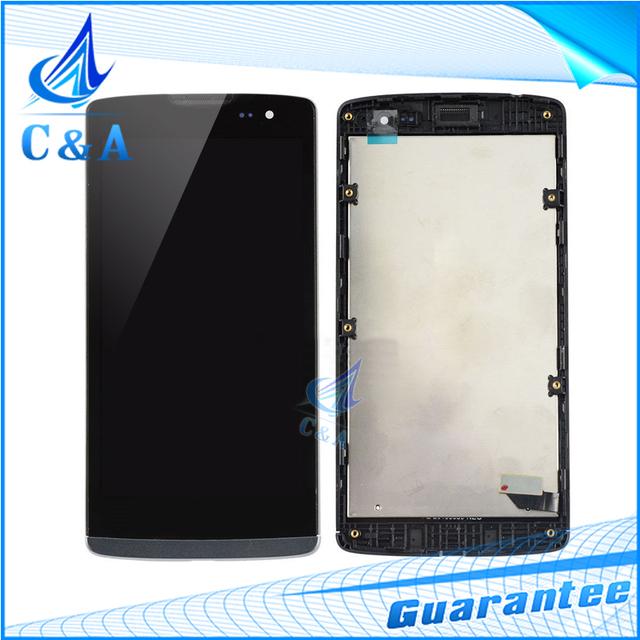 Para lg leon h340 h320 h324 h340n h326 ms345 c50 lcd exibição da tela com digitador touch com frame assembly1 peça frete grátis