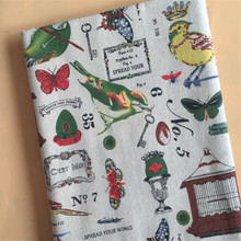 Cartoon Printed Linen Fabric Cotton Blend DIY Patchwork Material Manual Sewing Quilting Canvas Cloth For Textile