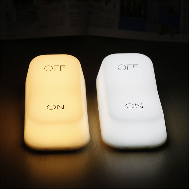Creative Vintage Switch Modeling LED Lamp Night Light Gravity Induction  ON/OFF Switch Lamp For