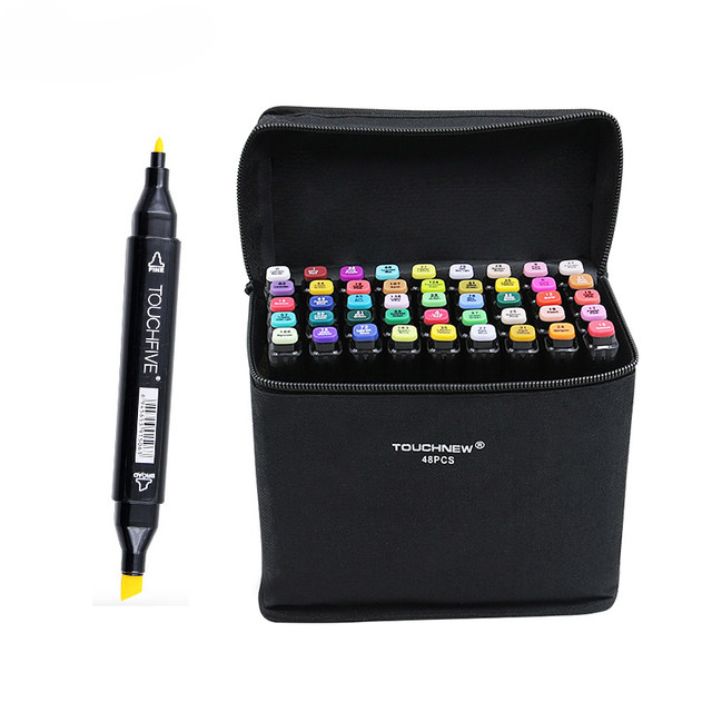 TOUCHFive 168 Colors Single Black Acrylic Art Markers Dual Head Alcohol Sketch Markers Pen For Drawing Manga Felt Brush Pens Art Supplies1