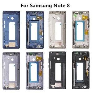 Image 2 - Samsung Note8 Note9 konut orta çerçeve çerçeve plaka kapağı onarım için Samsung Galaxy not 8 N950 not 9 N960 kapak