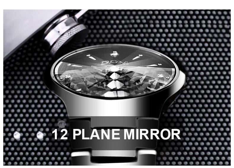 Hk dom luksusowe top marka męska zegarek wolframu stal wrist watch wodoodporna biznesu kwarcowy zegarek fashion casual sport watch 4