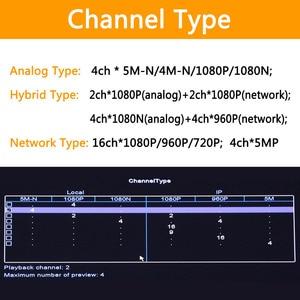 Image 3 - 5MP N 5 in 1 4CH AHD/TVI/CVI/CVBS/IP DVR Beveiliging CCTV video recorder P2P VGA HDMI voor ip camera xmeye