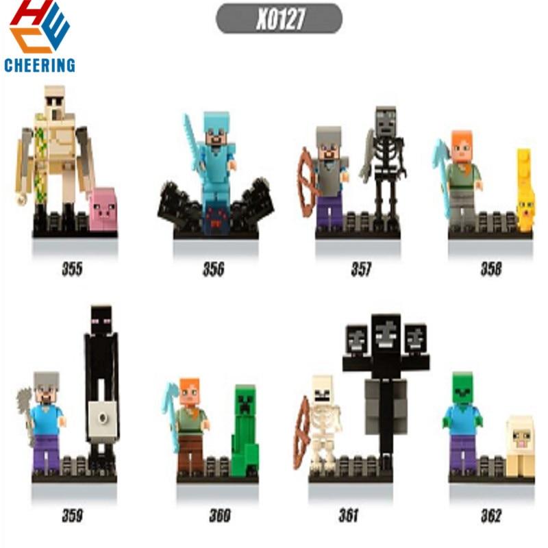 Single Sale Building Blocks Doctor Strange Spiderman Captain America Batman Catwo Action  Figures Bricks Toys For Children X0127