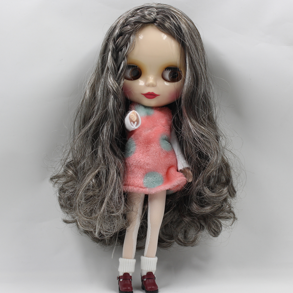 Adroit Factory Blyth Doll 260bl950/6025 Long Wavy Grey Hair Without Bangs 4 Colors For Eyes Nude Doll Toys & Hobbies