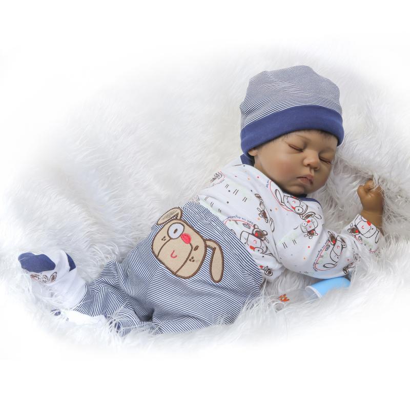 Doll Baby D045 55CM 22inch NPK Doll Bebe Reborn Dolls Girl Lifelike Silicone Reborn Doll Fashion Boy Newborn Reborn Babies цена