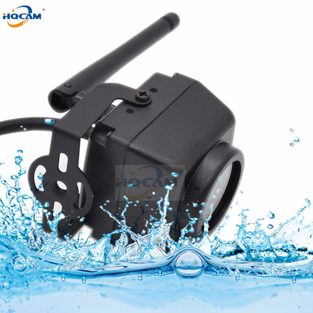 HQCAM wodoodporna zewnętrzna kamera IP66 720P HD Mini Wifi IP wykrywanie ruchu noktowizor karta SD obsługa androida iPhone P2P Camhi