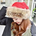 FEITONG Knitted Hat Faux Fur Crochet Skullies Beanies Fashion Warm Skullies Beanies Female Cap Free Shipping Solid Beanies