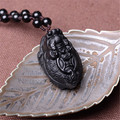 Natural Obsidian Dragon Turtle Pendant and Jade Turtle Bring Wealth and Lucky For Men Necklace Jade Jewellery