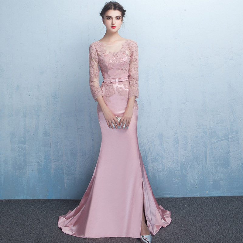 Custom Made V Neck Lace Top Plain Satin Elegant Long: Popular Lycra Gown-Buy Cheap Lycra Gown Lots From China
