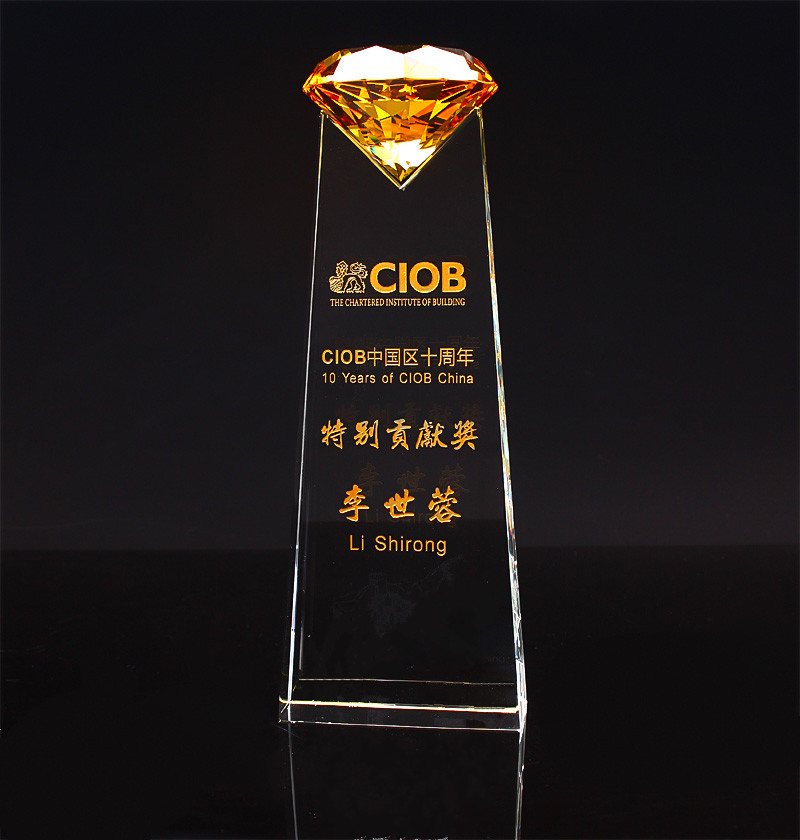 Sports Event Crystal trophies and awards Customized Diamond Basketball Football Golf Tennis Logo Champions Cup Trophy
