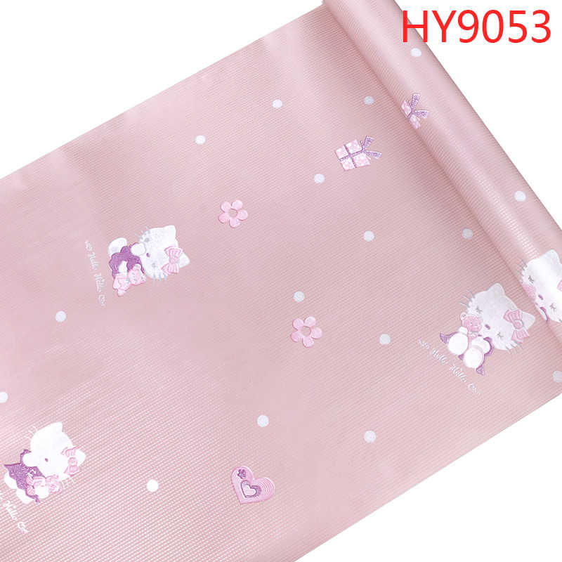 Hello Kitty Pink Blue Wallpaper 3d Lovely Cartoon Cat Children Kid Baby Girl Bed Room Living Room Bedroom Home Decoration