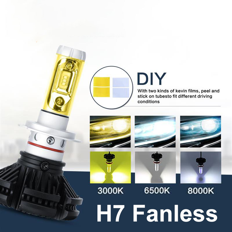 H7 Led Car Headlight Bulbs CREE CSP Chips 50W 6000LM 3000K/6500K/8000K Led Headlight Kits Auto Headlamp Fog Light 12v 24v