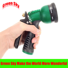 garden household plastic copper variable flow controls multifunction 7 patterns water spray nozzle