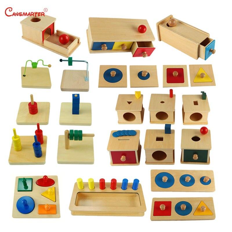 Montessori sensoriel définit des jouets éducatifs pour bébés en bas âge boîte conseil Puzzles enseignement bois jeu et jouets préscolaire maison SES02-2