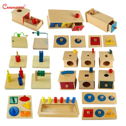 Sensorial Montessori Sets Educational Toys Infant Toddlers Box Board Puzzles Teaching Wood Game and Toys Preschool  Home SES02-3