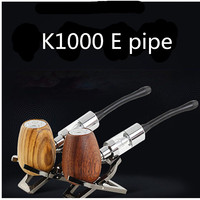 K1000 E pipe vape mod kit for 3.5ml capacity e liquid vaporzer dual coils glass atomizer tank vaporizer vape pen E cigarette