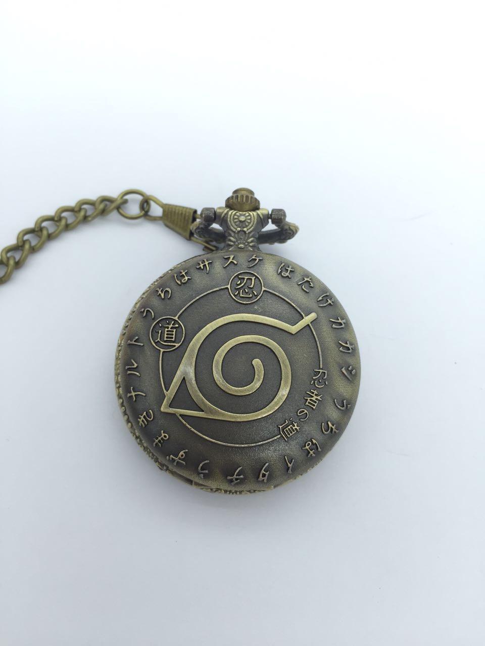 New Bronze Antiques Shinobi Flip Clock Mens Good Quality Steampunk Pocket Watches Gift PO5878