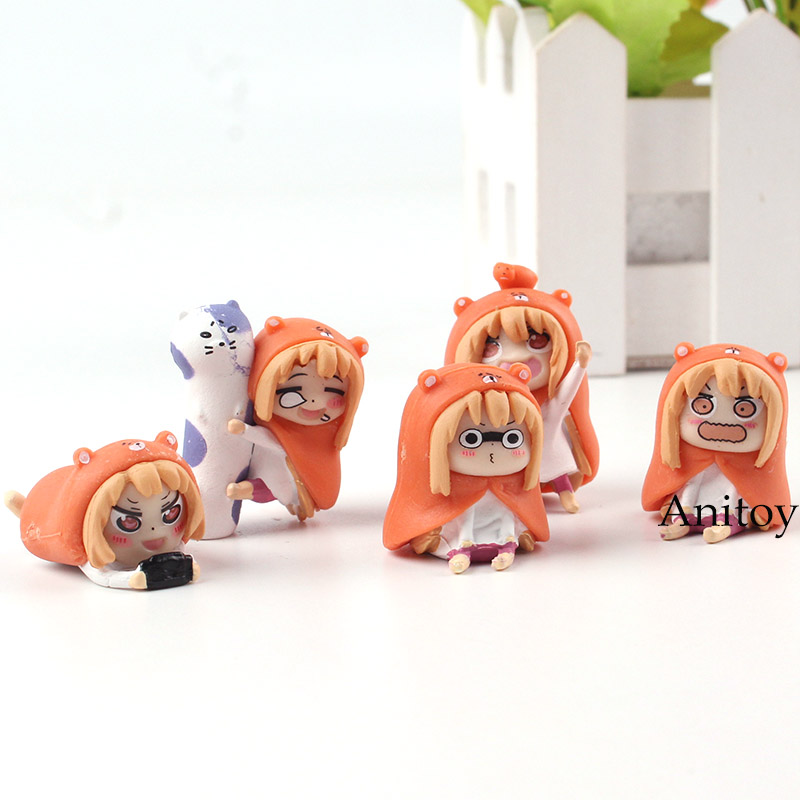Himouto! Umaru-chan Figure Doma Umaru Cute PVC Anime Himouto Umaru Chan Figure Collectible Model Toys Dolls Gifts 5pcs/set уход за малышом babyono косметический набор в упаковке с зеркальцем