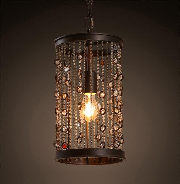 US216 Land 5OFF Moderne Küche Wohnkultur Esszimmer Lampe Amerikanischen Edelstein Quaste 6 Vintage Leuchte in Retro Anhänger Kronleuchter Loft dorxeCB
