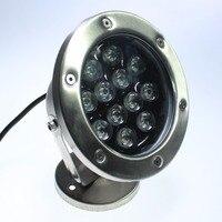 משלוח חינם 10 יחידות להרבה 12 W RGB LED אור מתחת למים מנורת מזרקת מזרקת המנורה led אור בריכה שחייה נמסר על ידי dhl