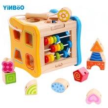 Купить с кэшбэком Baby toys for children Wooden Classic Wooden Multi Shape Sorter Block for Kids Gift juguetes brinquedos