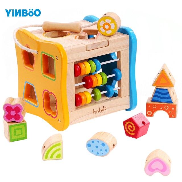 Bebé juguetes para niños de madera clásico Multi forma clasificador bloque para niños regalo juguetes brinquedos