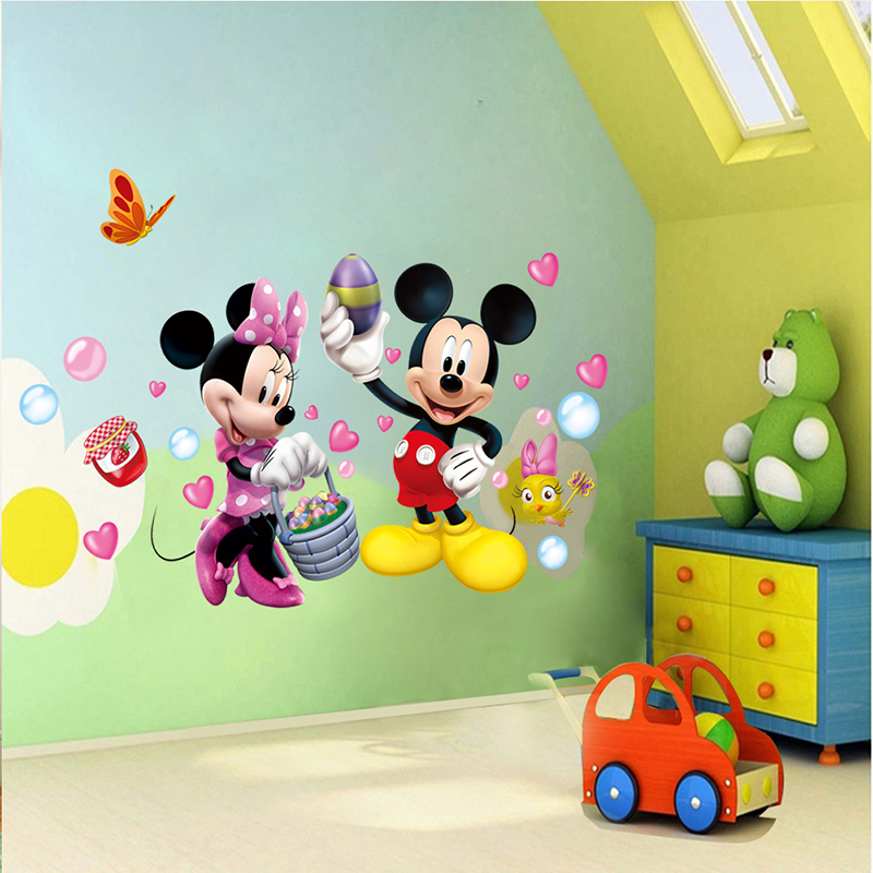 Aliexpress.com : Buy More Designs Mickey Mouse Clubhouse Minnie Wall  Sticker Removable Vinyl Art Wall Decals Baby Nursery Room Decal Decoration  From ... Part 62