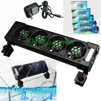 Aquarium Efficient Cooling Fan Fish Tank Quiet Chillers W Mounter Nano Temperature Controller Aquio Accessories 110
