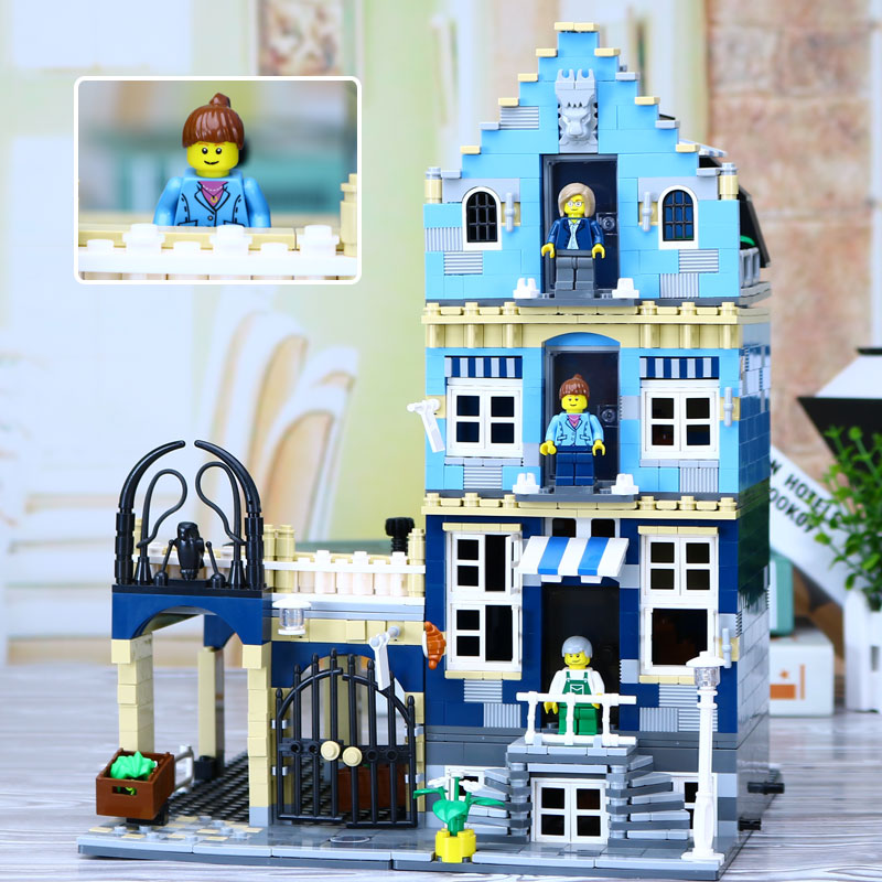 New Lepin 15007 1275Pcs Factory City Street European Market Model Building Block Set Bricks Kits Compatible legolyes 10190 Toys цена