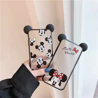 FastDeng Simple Cartoon Mickey Minnie para iPhone 6 6s 7 8 plus funda mate patrón de ratón lindo funda para iPhone X XR XS Max