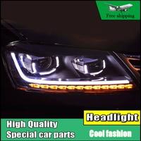 Car Styling Head Lamp For VW Passat B7 Europe Version headlights 2012 2015 LED DRL Bi Xenon Lens Flowing Turn Signal Headlight