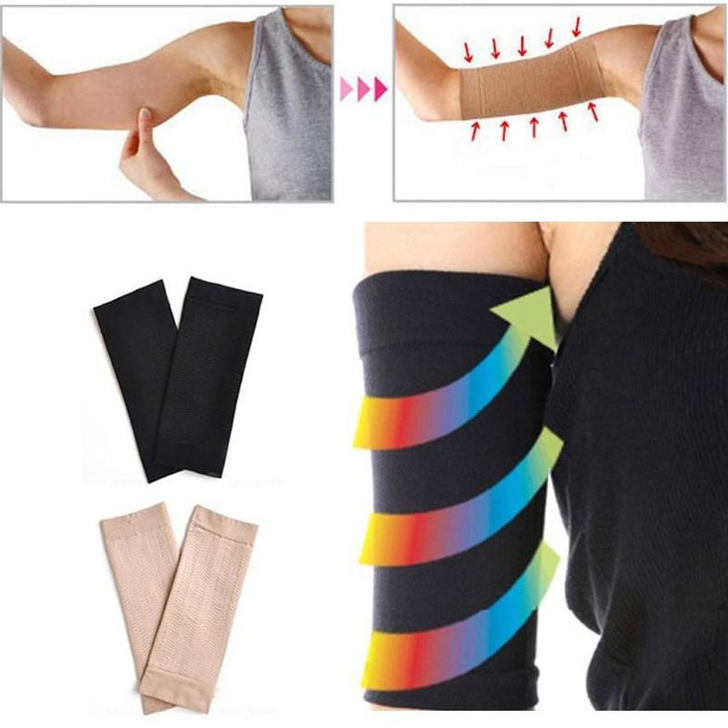 Arm Shaping Sleeves Solid Arm Shaped Sleeves Women Tone Up Elastic Shaperwear Slimming  Thin Arm Sleeves