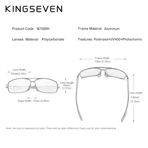 Image 3 - KINGSEVEN Nieuwe Meekleurende Zonnebril Mannen Gepolariseerde Kameleon Glazen Mannelijke Zonnebril Dag Nachtzicht Rijden Eyewear N7088