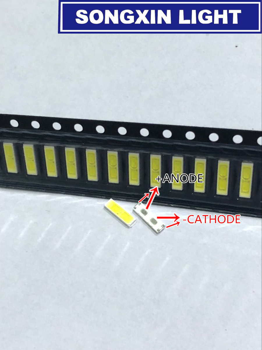 2000pcs SPECIAL 2 For LG LED LCD Backlight TV Application LED 1W 6V 7020 Cool white