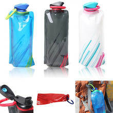 700mL Outdoor Foldable Reusable Sport Water Bottle Bag BPA-Free Bicycle Portable