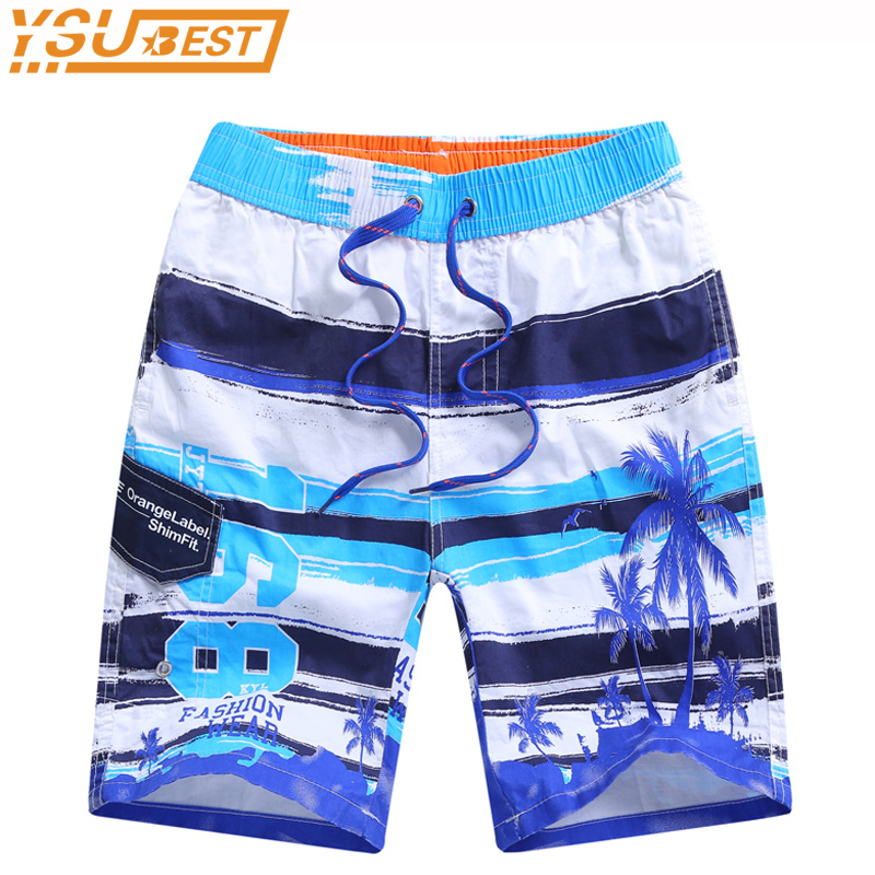New 2019 Boys Kids Beach Shorts Fashion Cotton Summer 7-15Yrs Children Quick-drying Beach Short Casual Print Children Shorts