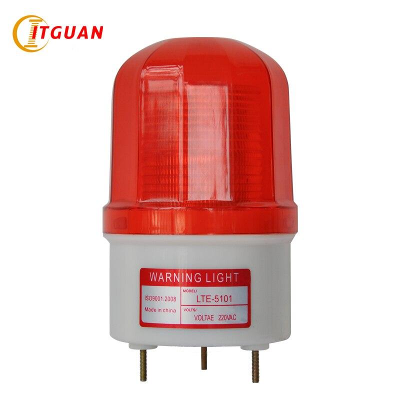 LTE-5101 Warning Lights DC12V/24VAC220V/380V Flashing Warning Lamp Alarm Fireman Vehicle Industrial Emergency Strobe Light ltd 5071 dc12v warning light emergency strobe light warning light