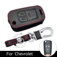 цена на Auto Key Cover Case for Chevrolet Cruze Buick Encore Opel Vauxhall Mokka Folding Key Holder Leather Cases