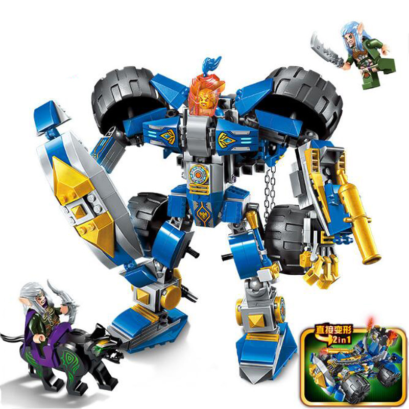 Knight Series Building Blocks Robot Transformation Ninjago Dragon War of Glory Assembled Toys Hobbies For Children Gifts full set 3 styles transformation robot series mini bricks toys diy diamond model nano building blocks hot selling children gifts