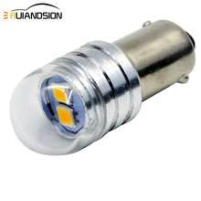 2x Auto Birne BA9S T4W BAX9S H6W BAY9S H21W LED Weiß 3030 2SMD 1,5 W 6V Anzeige LED Automotive licht Lampe 12V Parkplatz 233 3000K