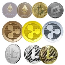 Non-currency Coins Bitcoin/Ethereum/Lite/Dash/Ripple Coin 5 kinds of Commemorative Coin Drop Shipping стоимость