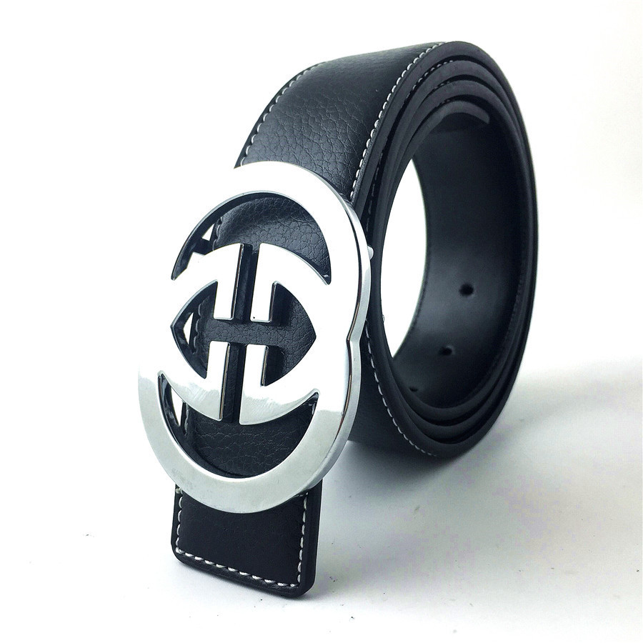 100% high quality men and women's genuine leather   belts   women casual g buckle fashion   belts   luxury brand gg   belts