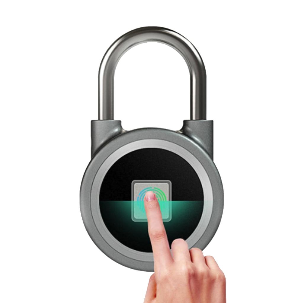 Smart Electric Lock Fingerprint Bluetooth Padlock Waterproof Mini Portable Anti Theft IOS Android APP Control Door Bag Padlock