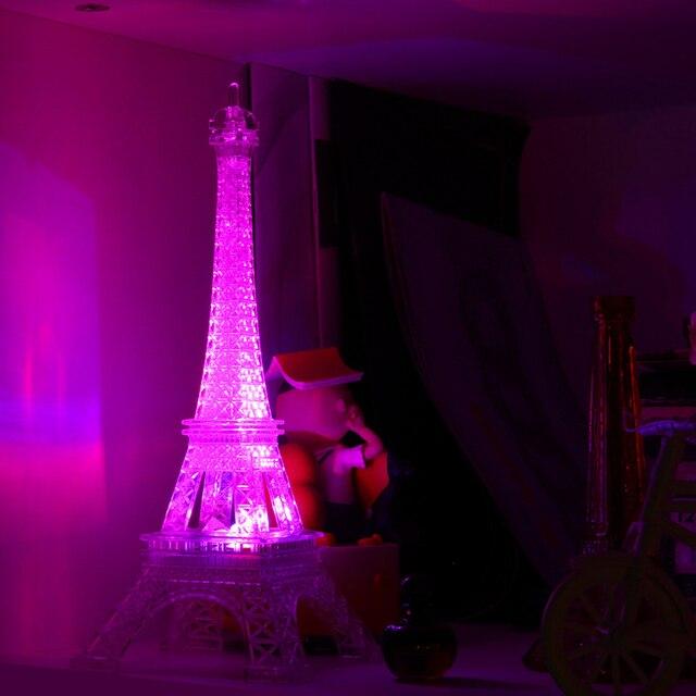 romantic creative eiffel tower led night light desk bedroom nightlight childrens decoration gift christmas rainbow night