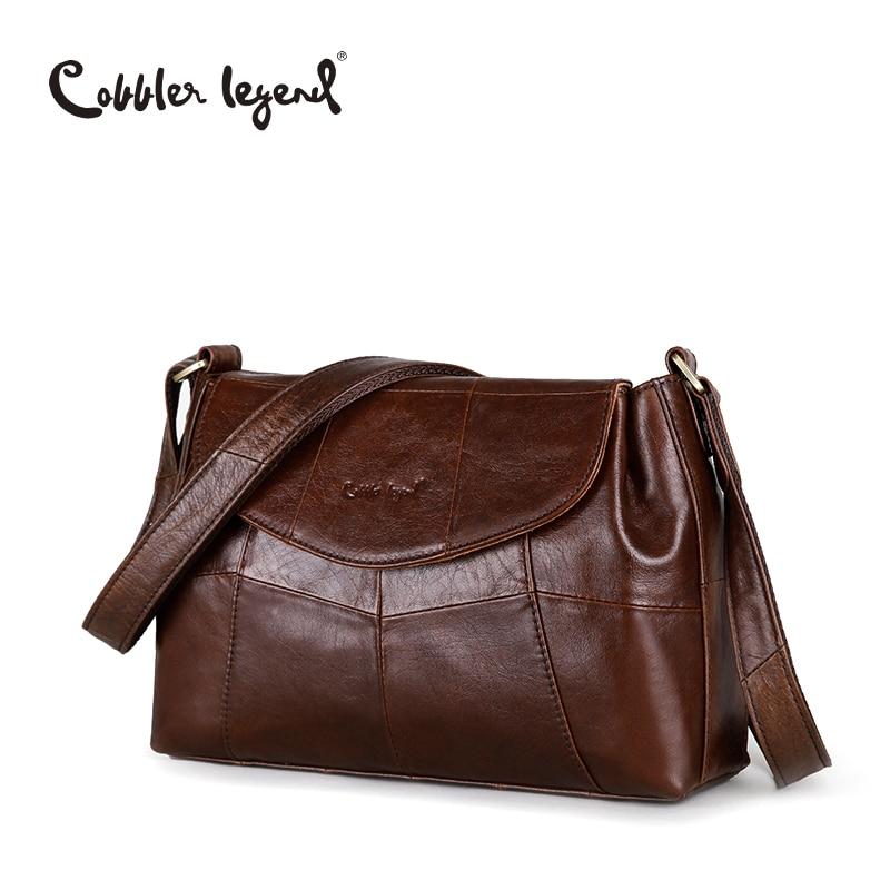 Cobbler Legend Elegant Women Messenger Bags For Women 2018 Crossbody Bags For Women Shoulder Genuine Leather Bags Baobao Brand