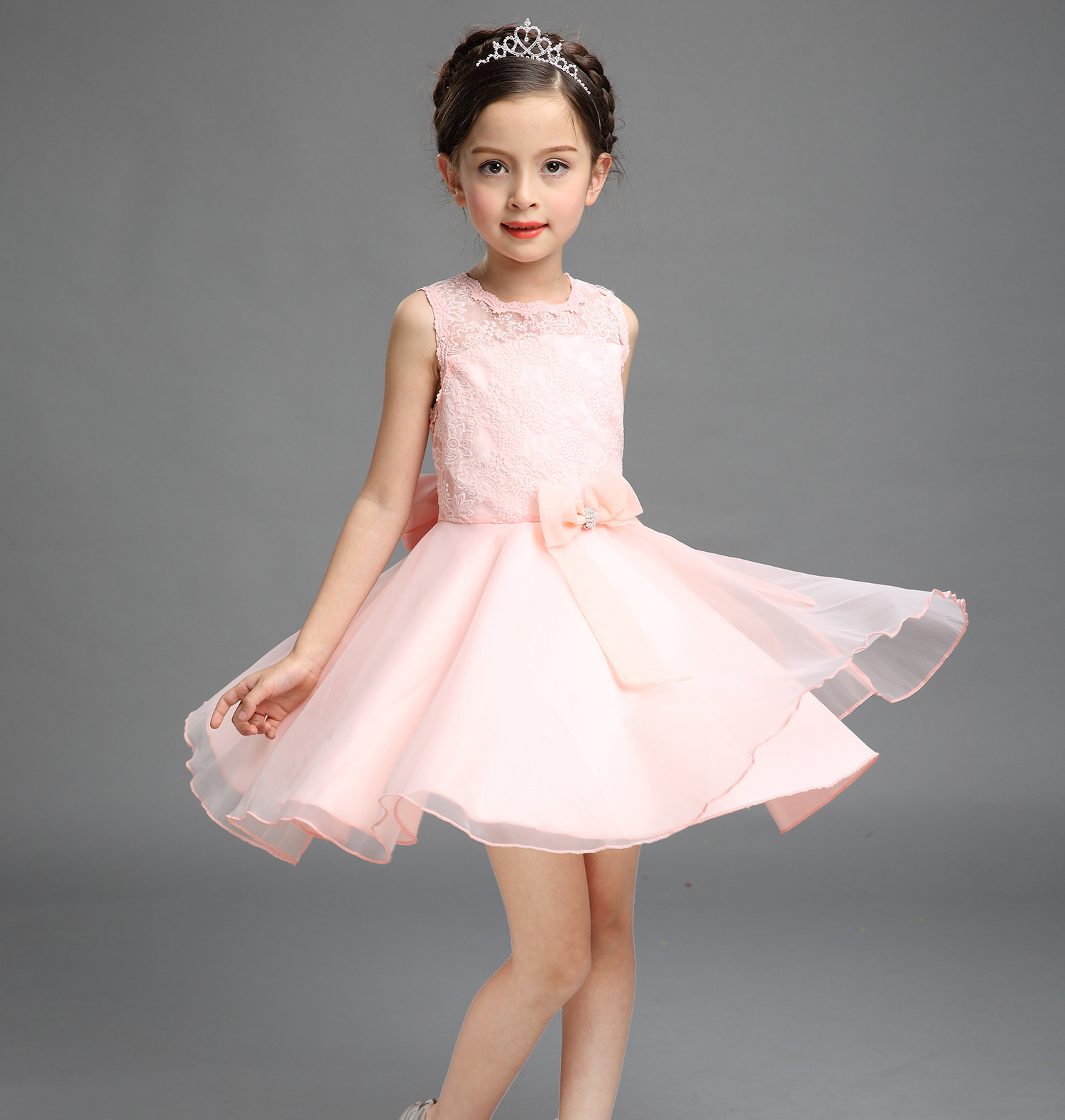 Summer dress girls princess white wedding dress costume kids summer dress girls princess white wedding dress costume kids infant petals child bridesmaid toddler vestido party dresses 3 10 y in dresses from mother ombrellifo Image collections