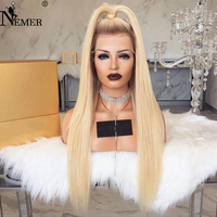 Brazilian Virgin Human Hair Ombre T4/27 Lace Front Wigs Bleached Knots Nemer Straight Virgin Human Hair Wigs with Baby Hair