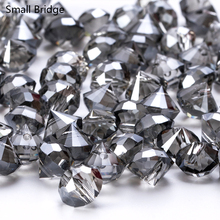 10mm Black Czech Faceted Cone Glass Beads Diy Garment Decoration Perles Loose AB Color Taper Shape Crystal Wholesale Y911