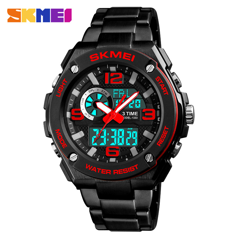 SKMEI Men's Sport Watches Fashion Chronograph Quartz Watch Luxury Stainless Steel Waterproof Men Wristwatches Relogio Masculino skmei men s quartz watch fashion watches leather strap 3bar waterproof luxury brand wristwatches clock relogio masculino 9106